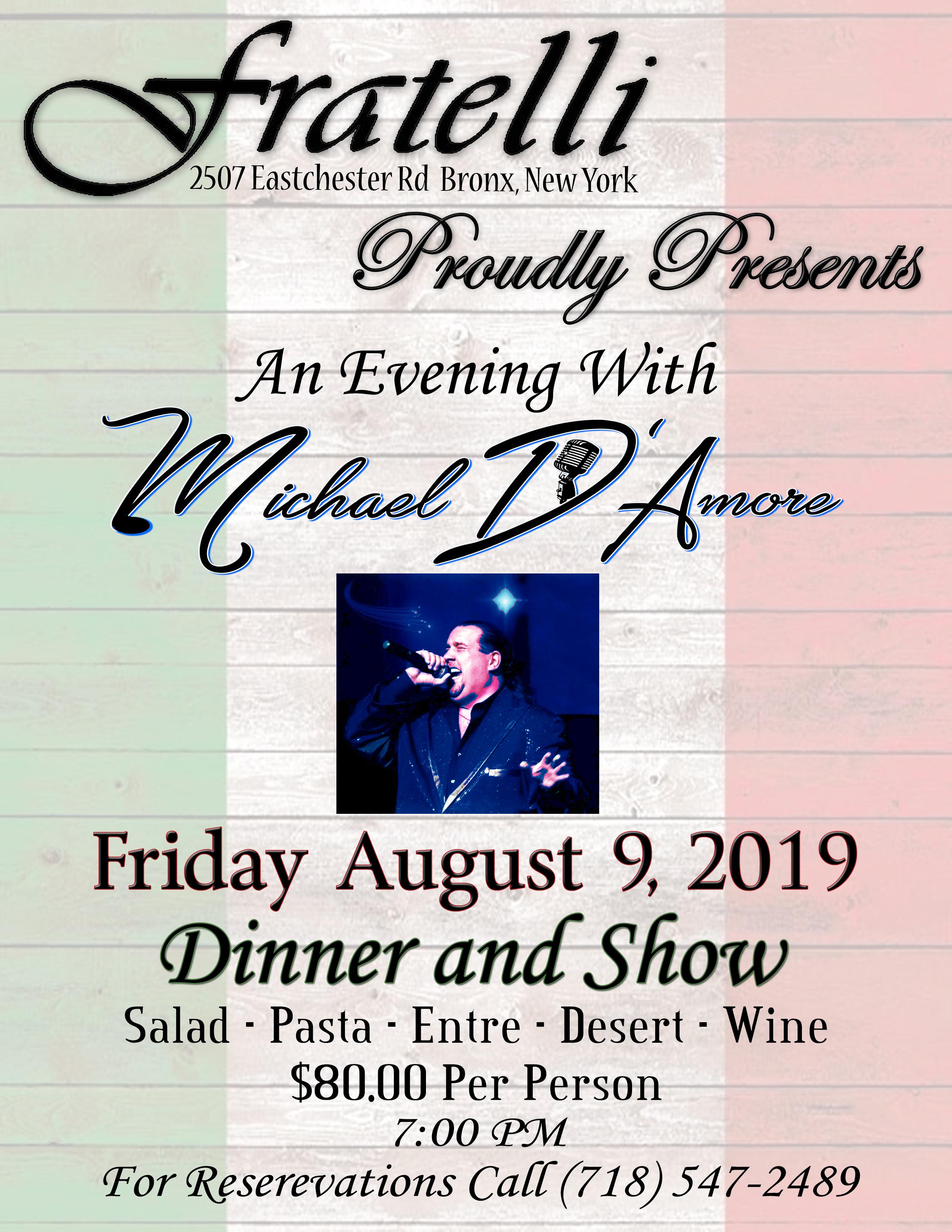 Michael D'Amore Dinner Show
